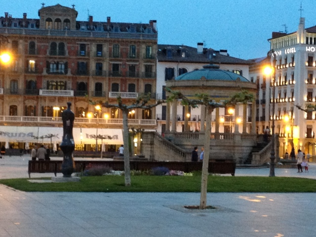 The square in Pamplona