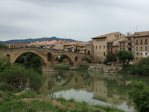 The town of Estella along the Rio Ega
